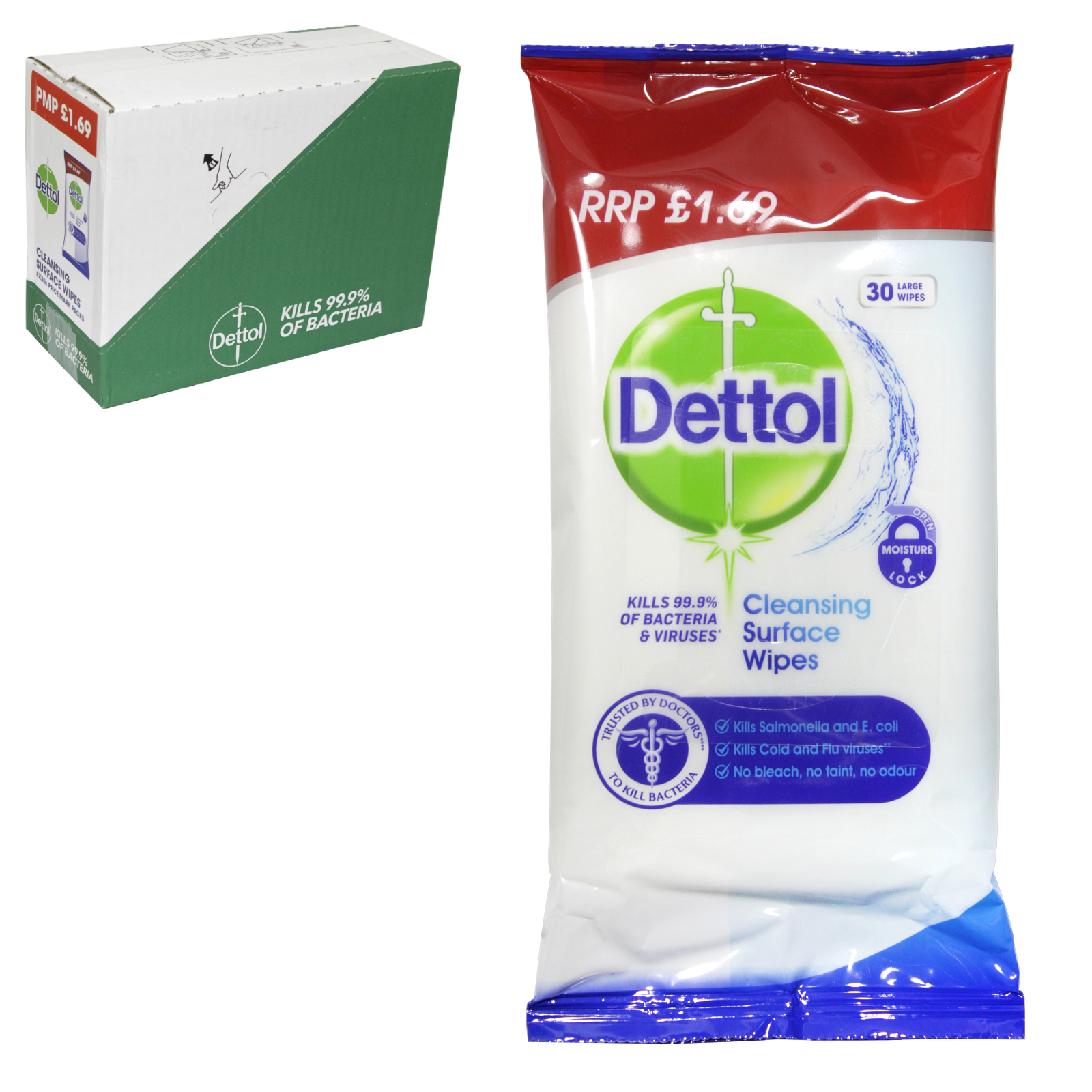 DETTOL SURFACE WIPES 36S PM?1.69  X8