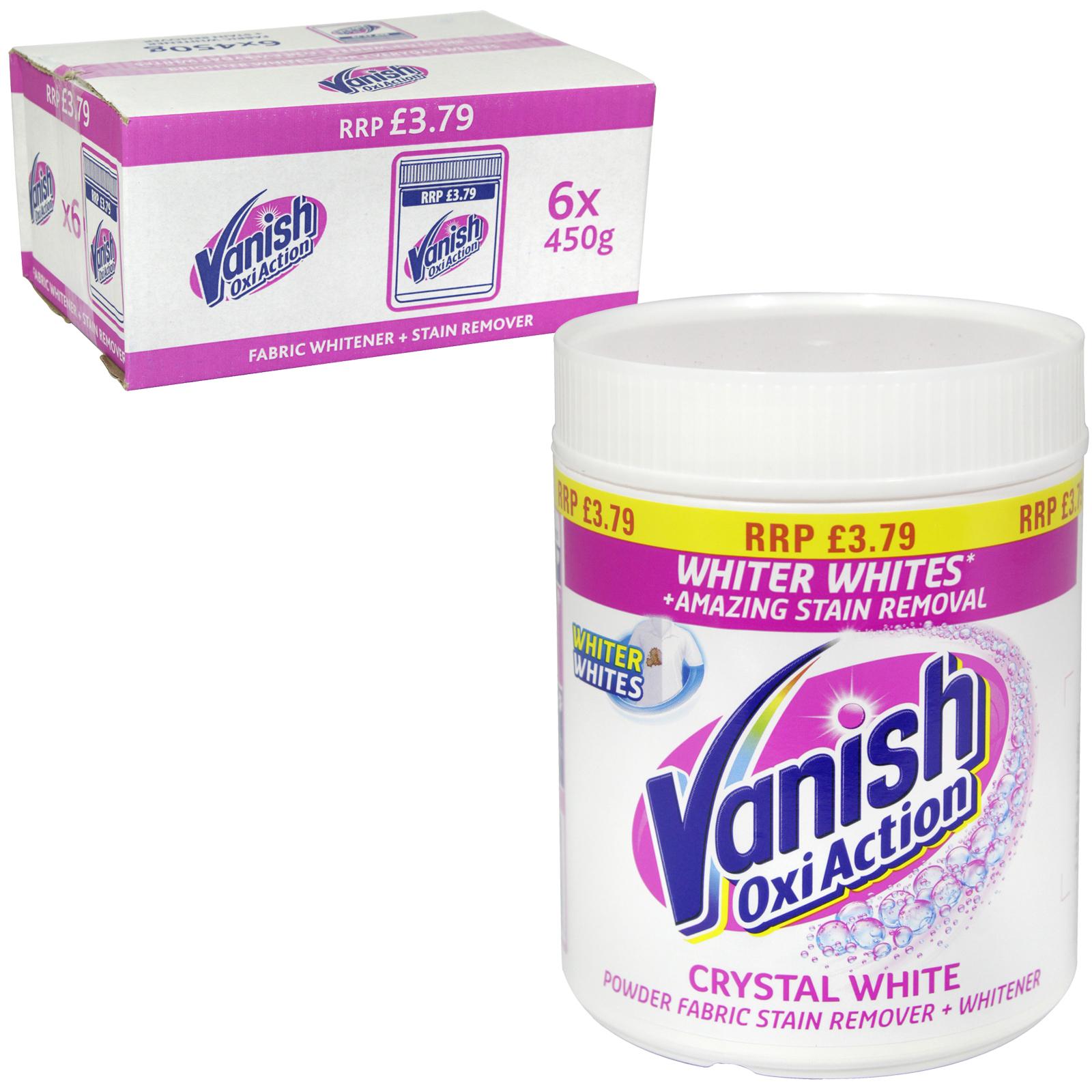 VANISH OXI-ACT POWDER 450G WHITES PM ?3.79  X6