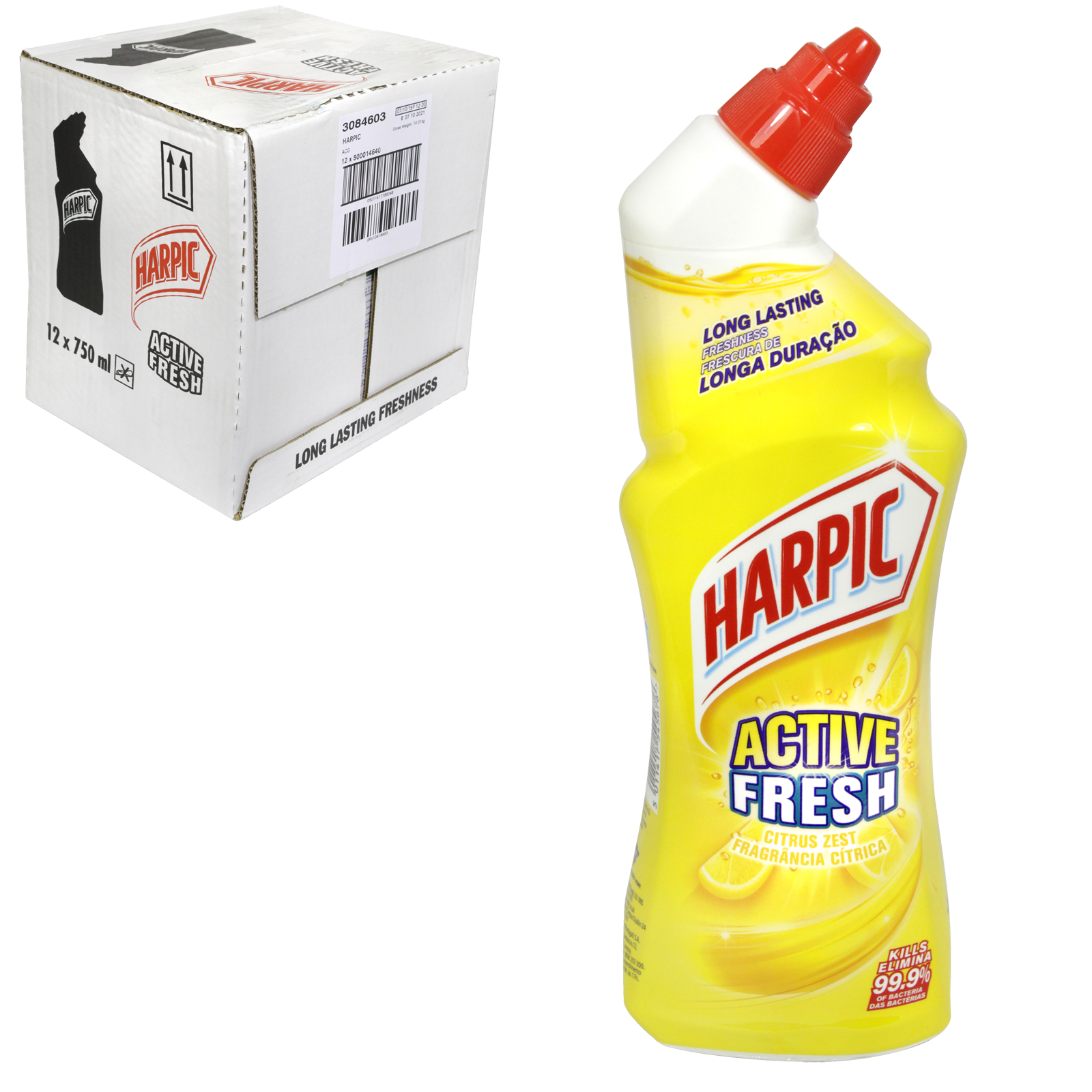 HARPIC ACTIVE FRESH 750ML CITRUS ZEST X12