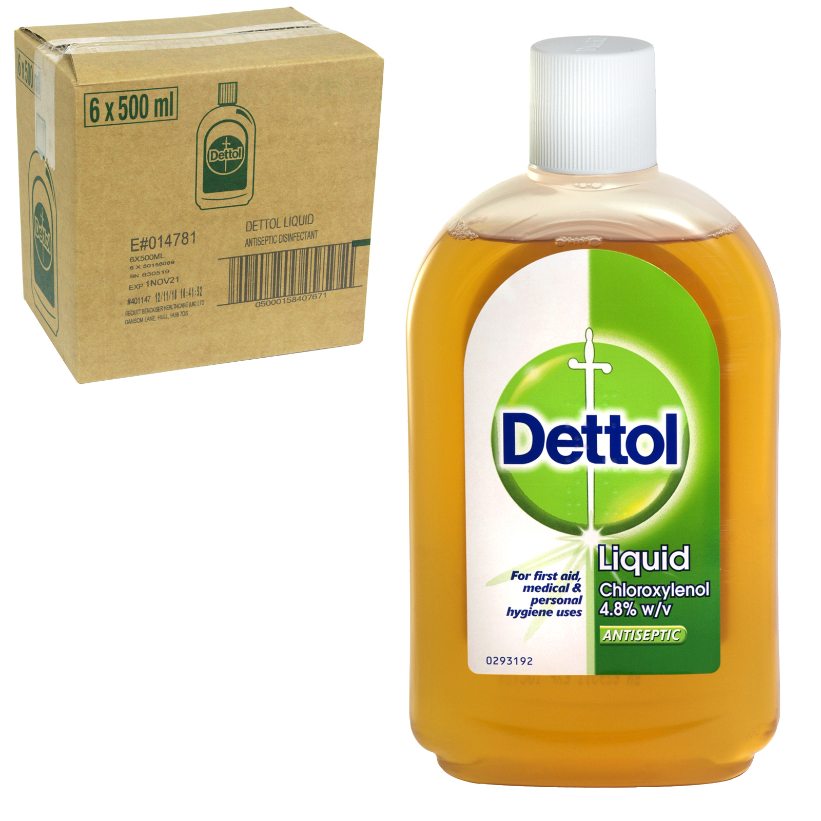 DETTOL ANTISEPTIC 500ML ORIGINAL X6