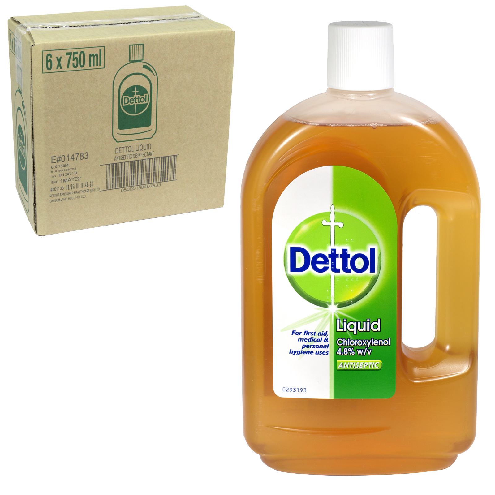 DETTOL ANTISEPTIC 750ML ORIGINAL X6