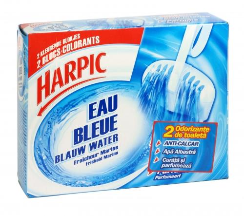 HARPIC 3IN1 T/BLOCK 2X38G BLUE WATER X12