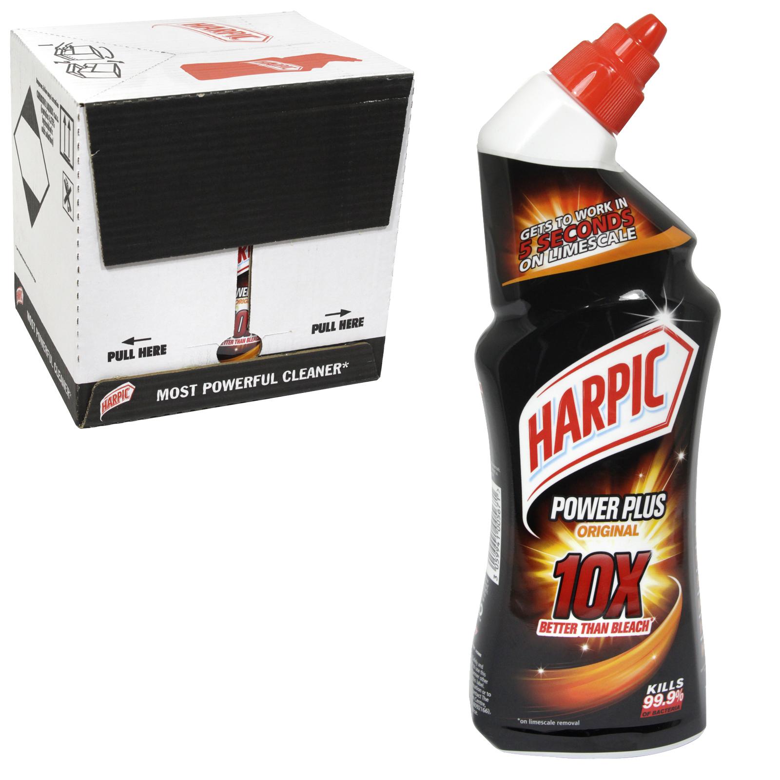 HARPIC POWER PLUS MAX 10 750ML ORIGINAL  X12
