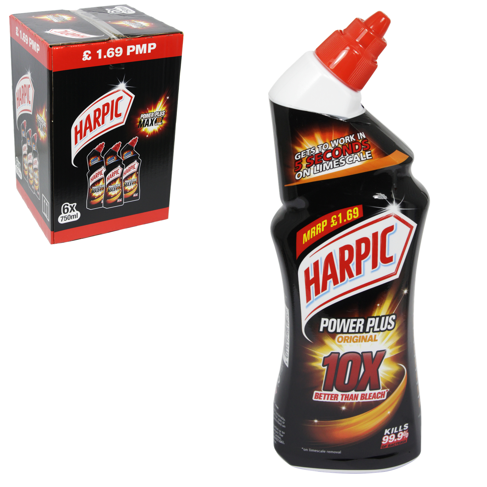 HARPIC POWER PLUS MAX 10 750ML X6