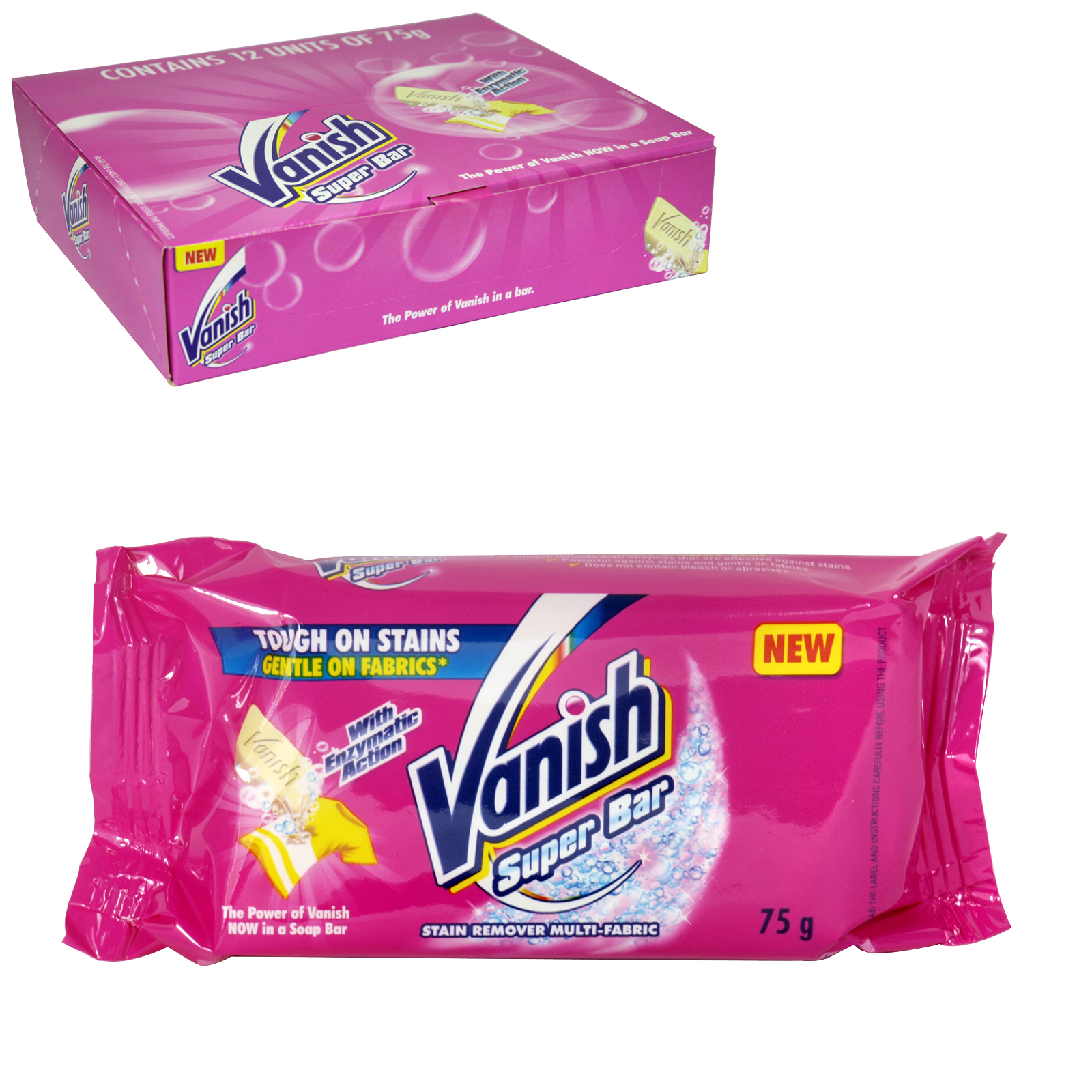VANISH PRE-WASH BAR SOAP 75GM X12