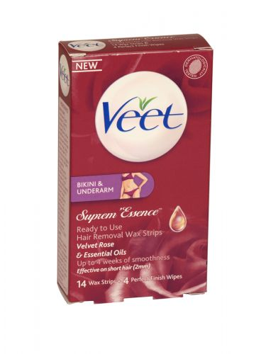 VEET BIKINI 14 STRIPS+4 WIPES