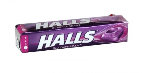 HALLS MENTHO-LYPTUS BLACKCURRANT RSP 72P