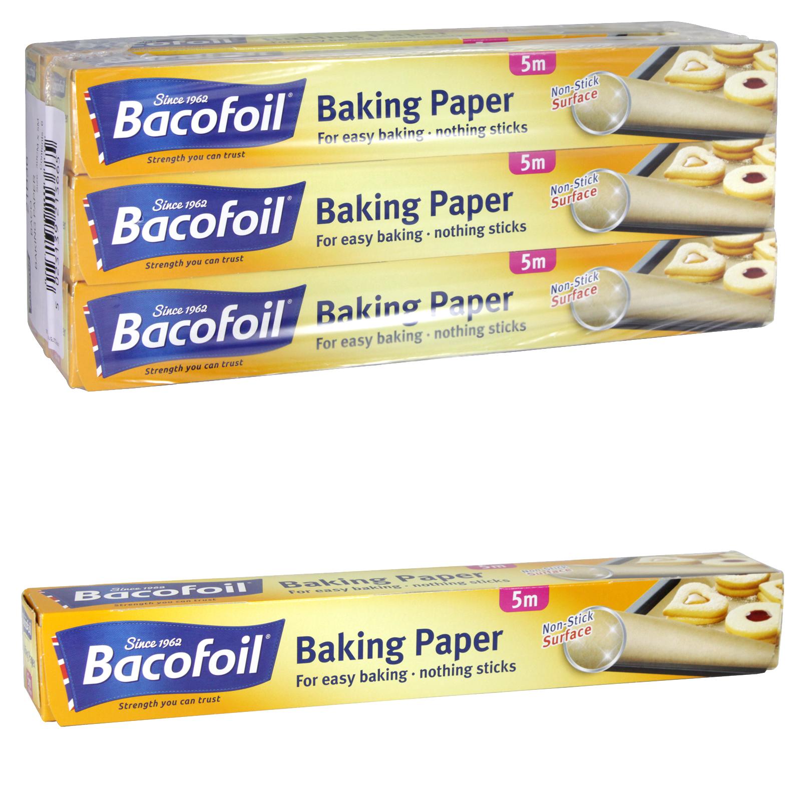 BACOFOIL BAKING PAPER NON-STICK PARCHMENT 300MMX5M X6