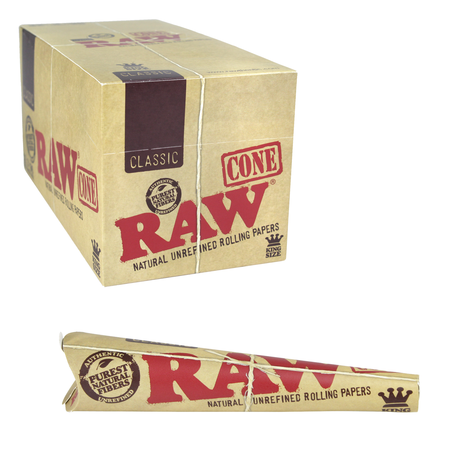 RAW CLASSIC KING SIZE CONES 3PK X32