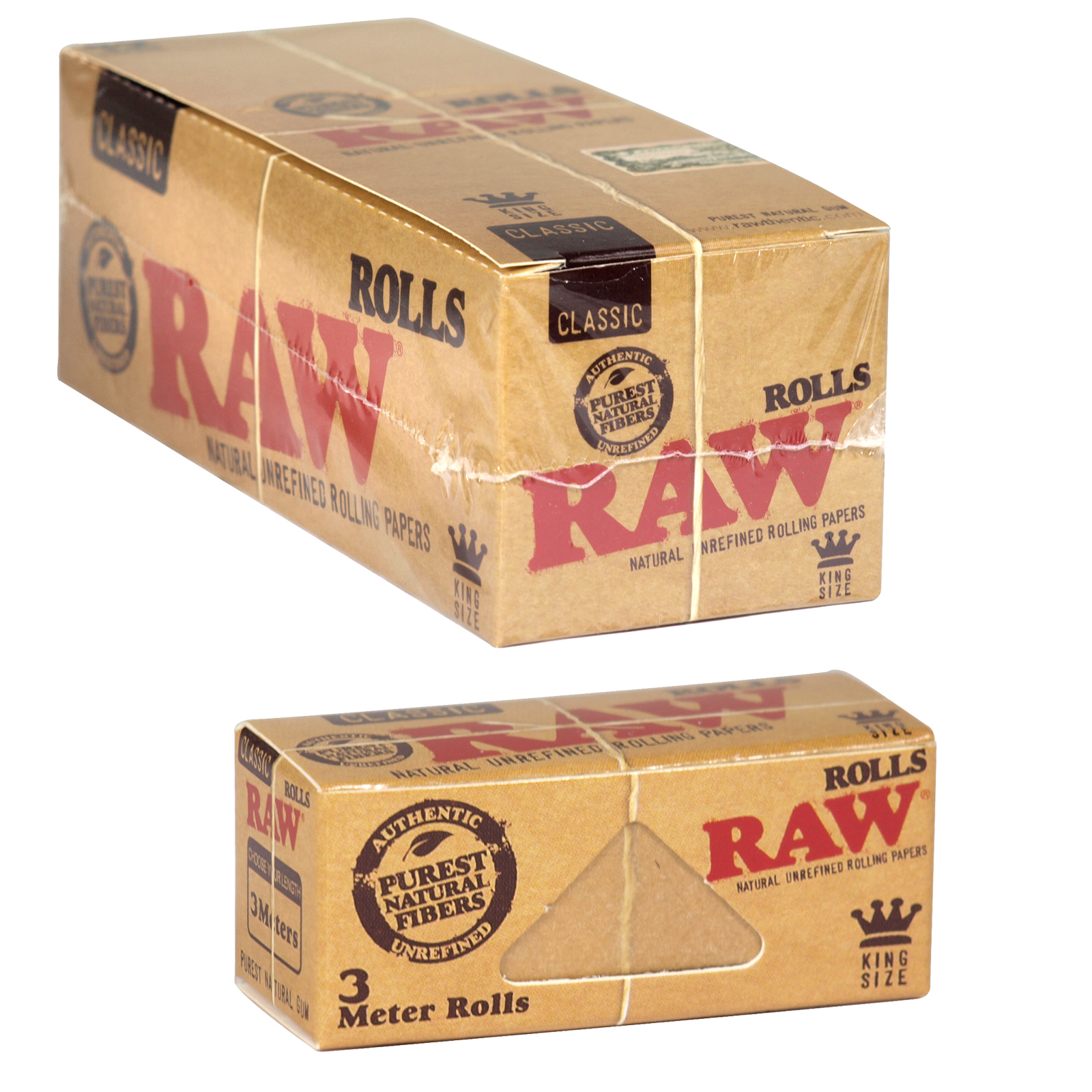 RAW CLASSIC ROLLING PAPERS 3M X12