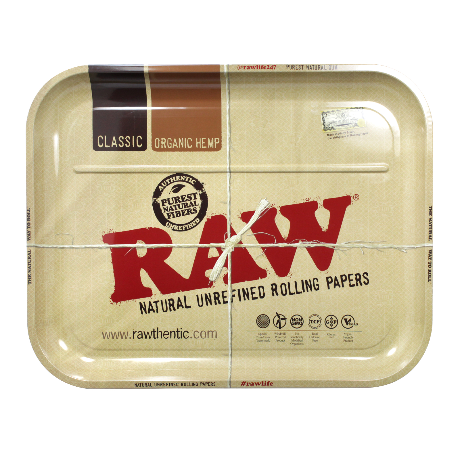 RAW METAL ROLLING TRAY EXTRA LARGE 50CM X 38CM