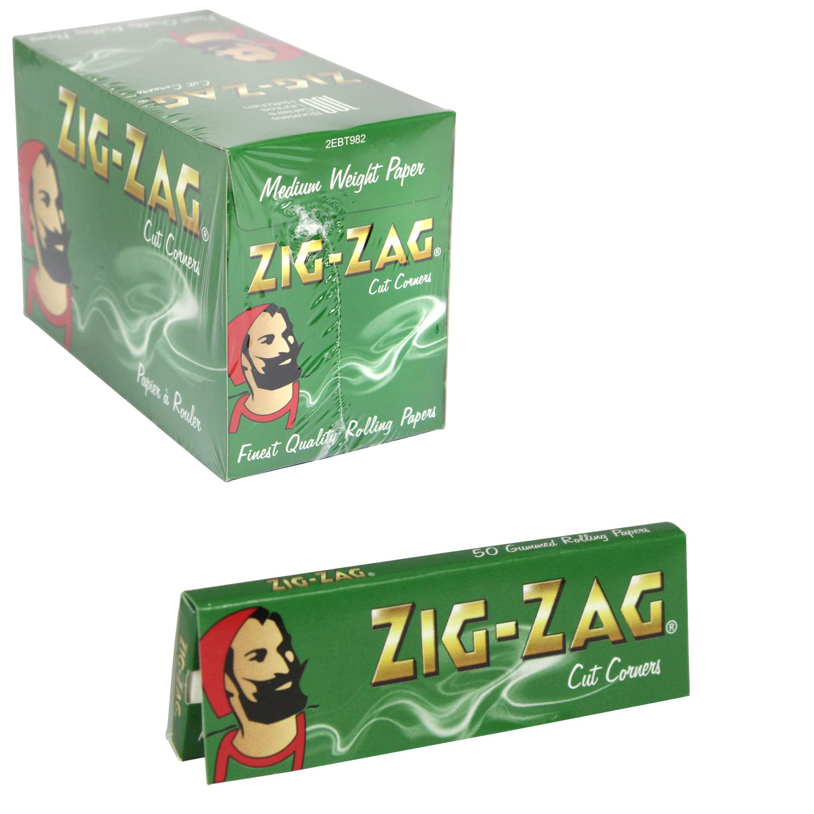 ZIG-ZAG CIGARETTE PAPERS 50S GREEN X100