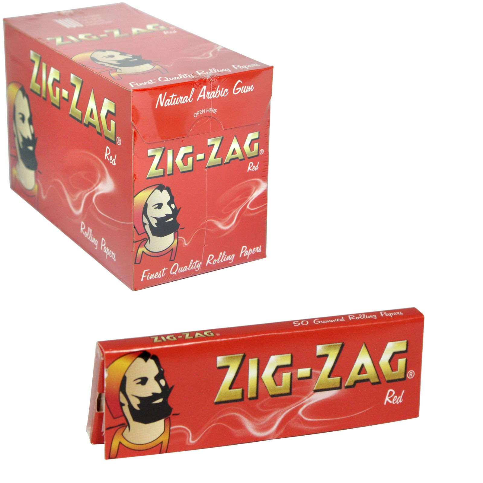 ZIG-ZAG CIGARETTE PAPERS 50S RED X100