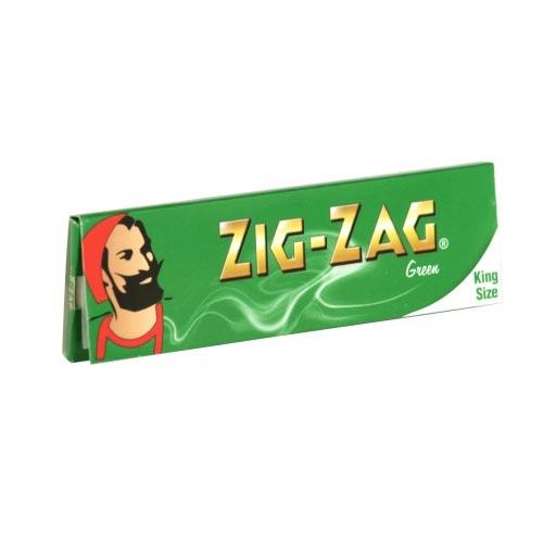 ZIG-ZAG CIG PAPER 32 KINGSIZE GREEN X50