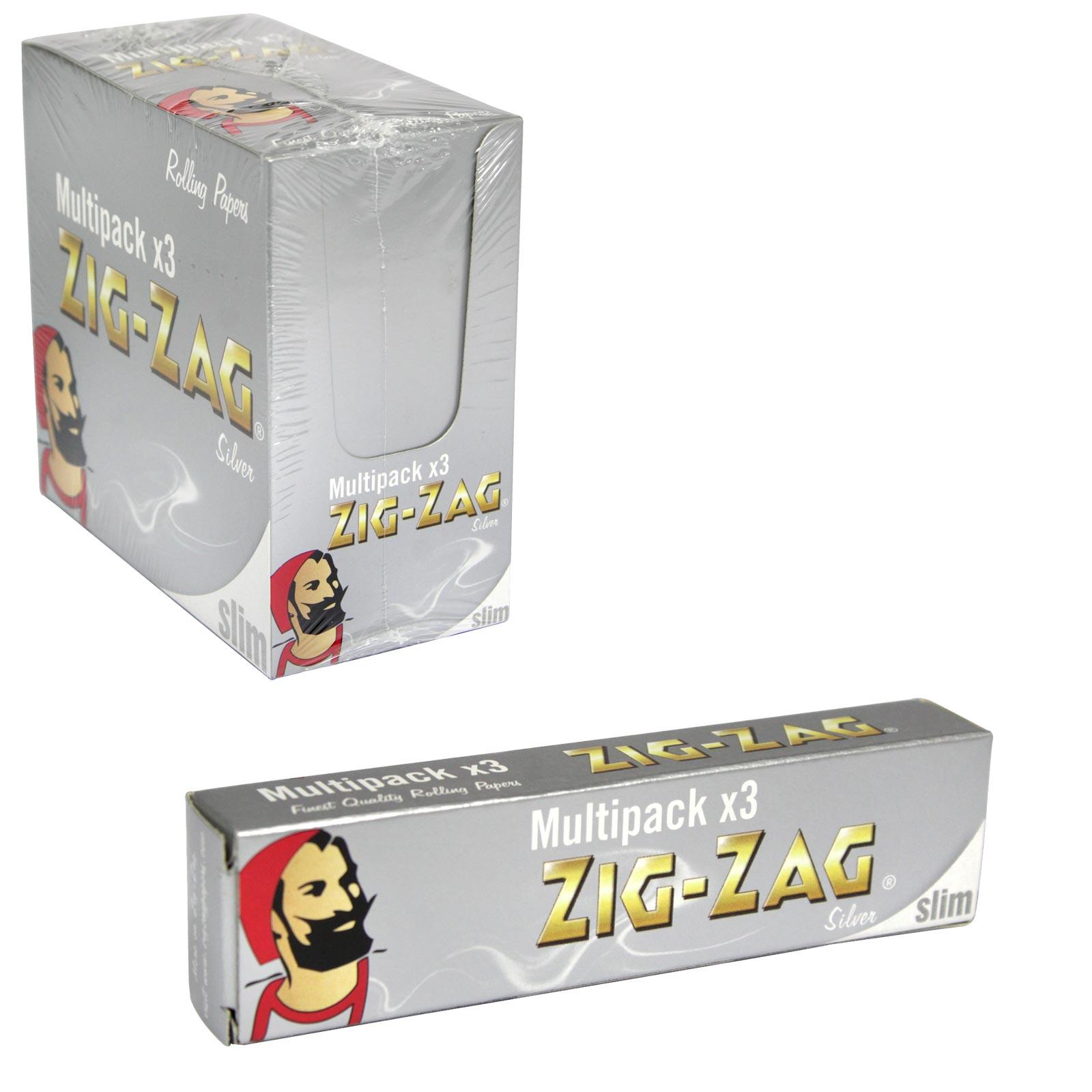 ZIG-ZAG SILVER SLIM KINGSIZE 3PK X12