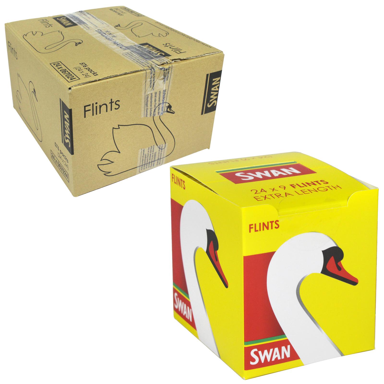 SWAN FLINTS 9S EXTRA LENGTH X24