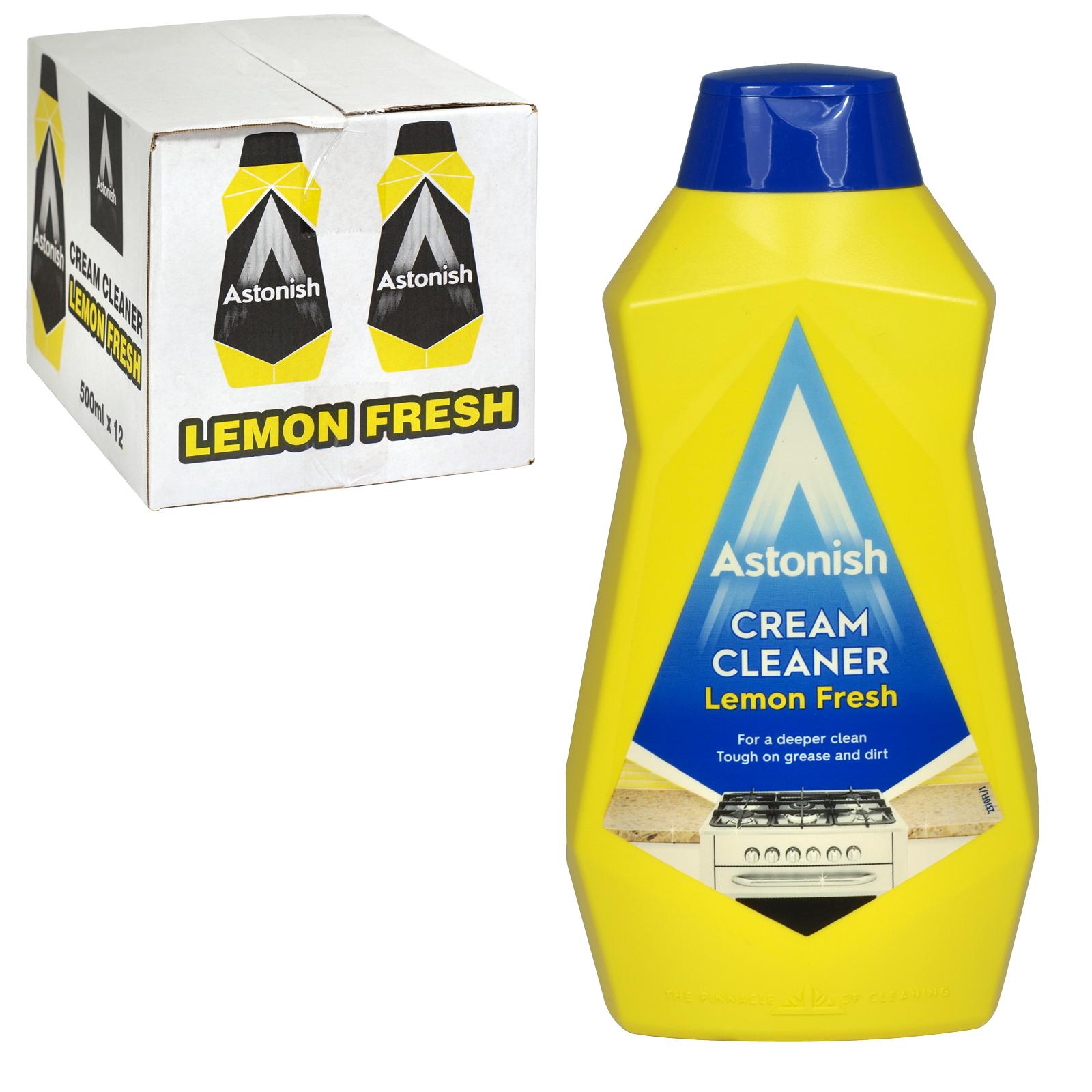 ASTONISH 500ML CREAM CLEANER LEMON FRESH X12