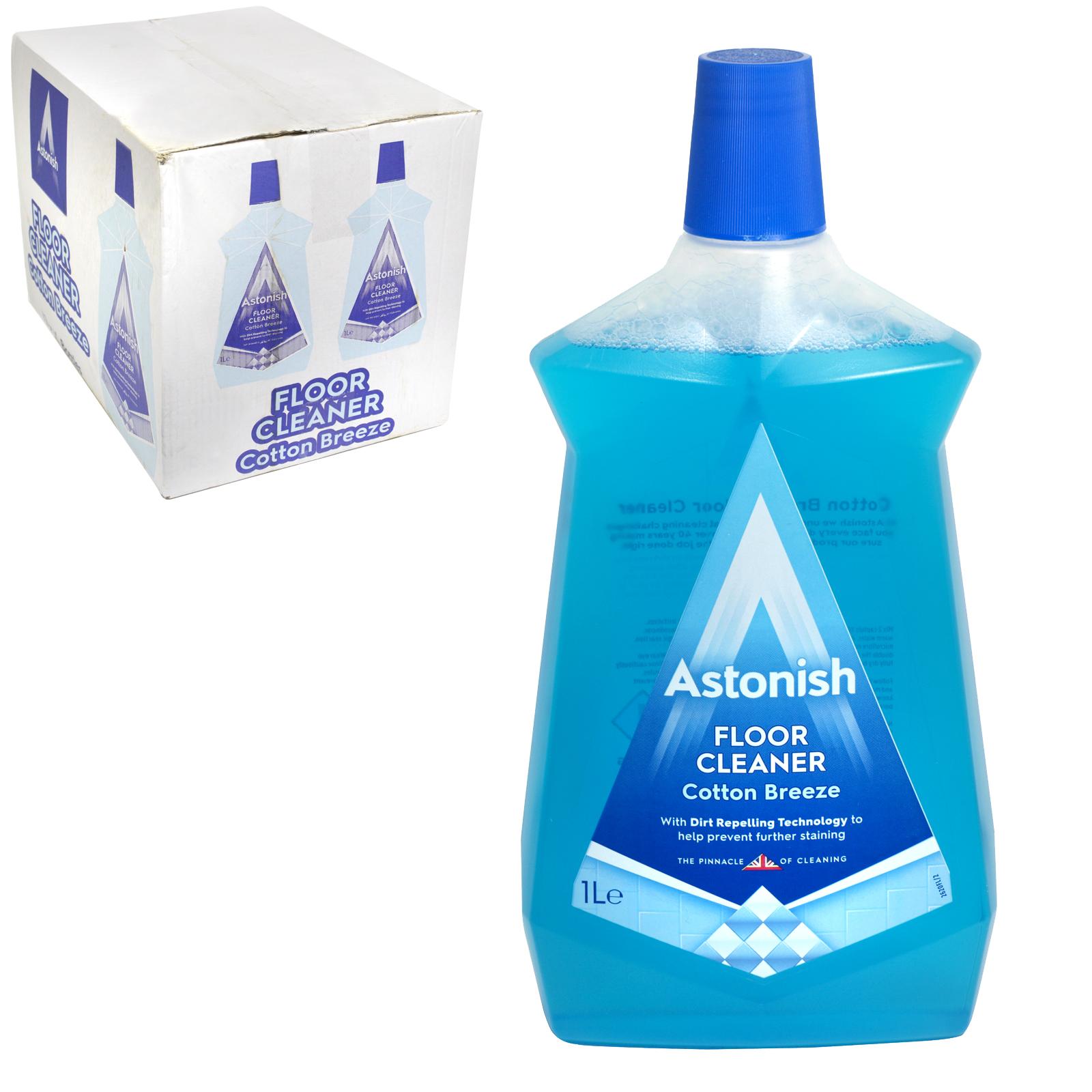 ASTONISH 1L FLOOR CLEANER COTTON BREEZE X12