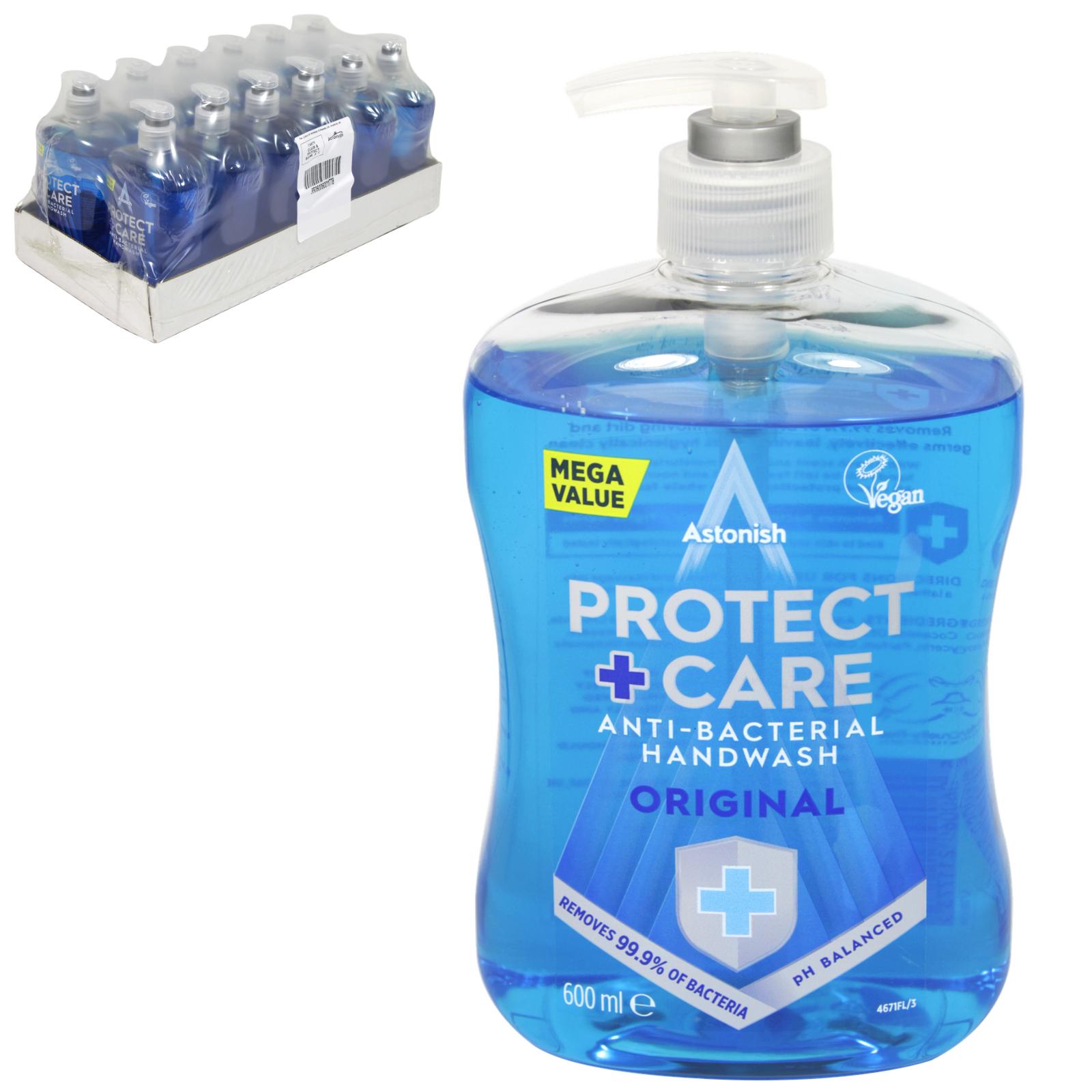 ASTONISH ANTI-BAC HANDWASH 500ML CLEAN+PROTECT X12