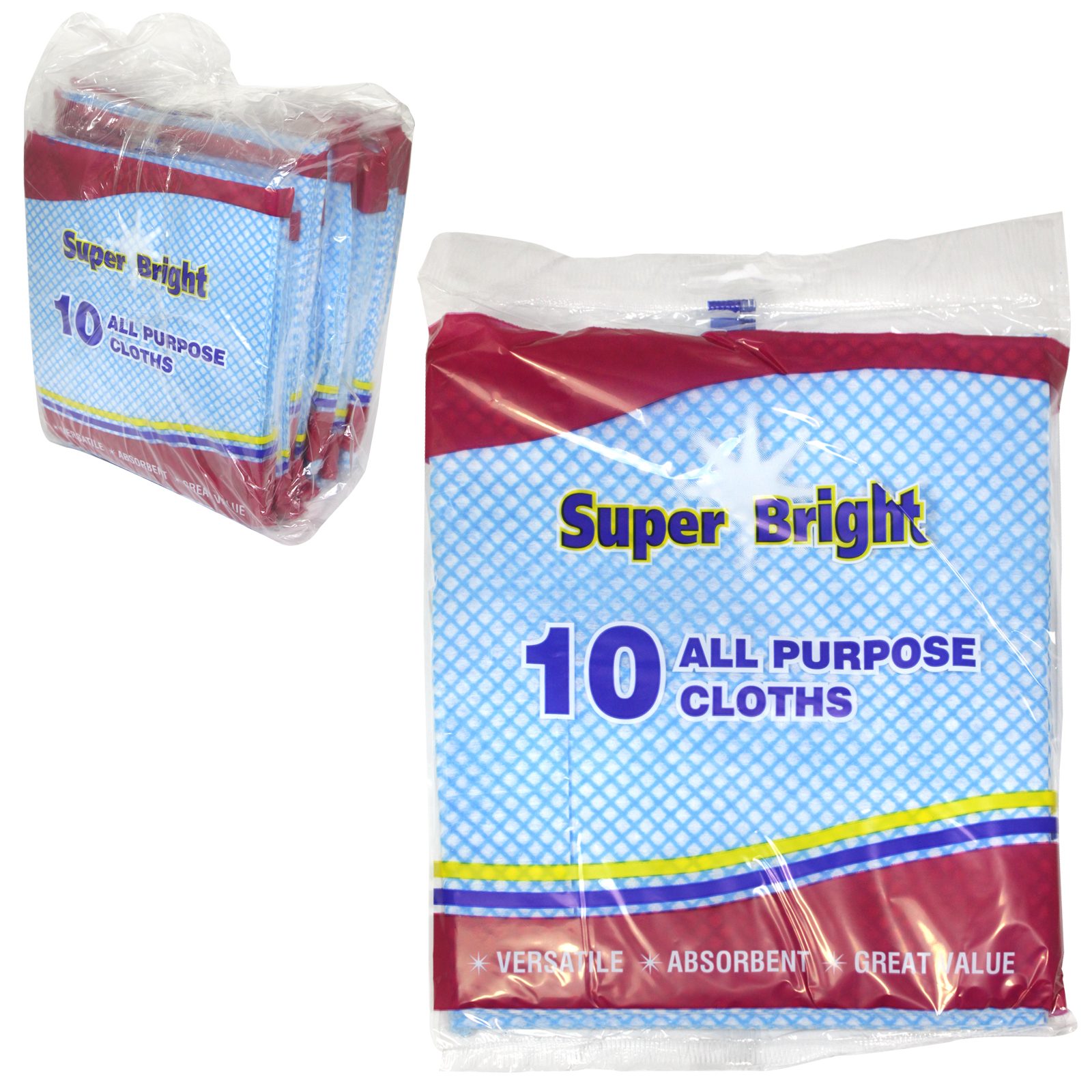 SUPERBRIGHT ALL PURPOSE CLOTHS 10PK X10