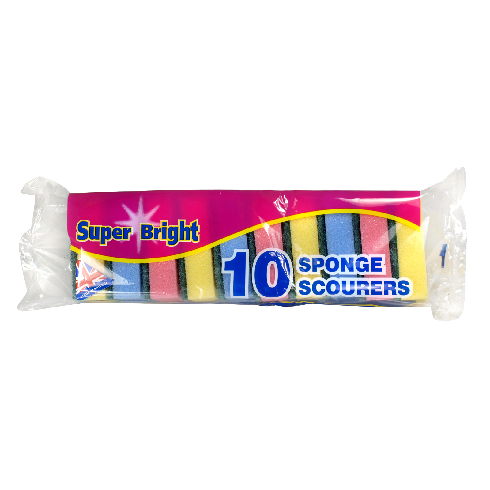 SUPERBRIGHT 10 SPONGE SCOURERS X10