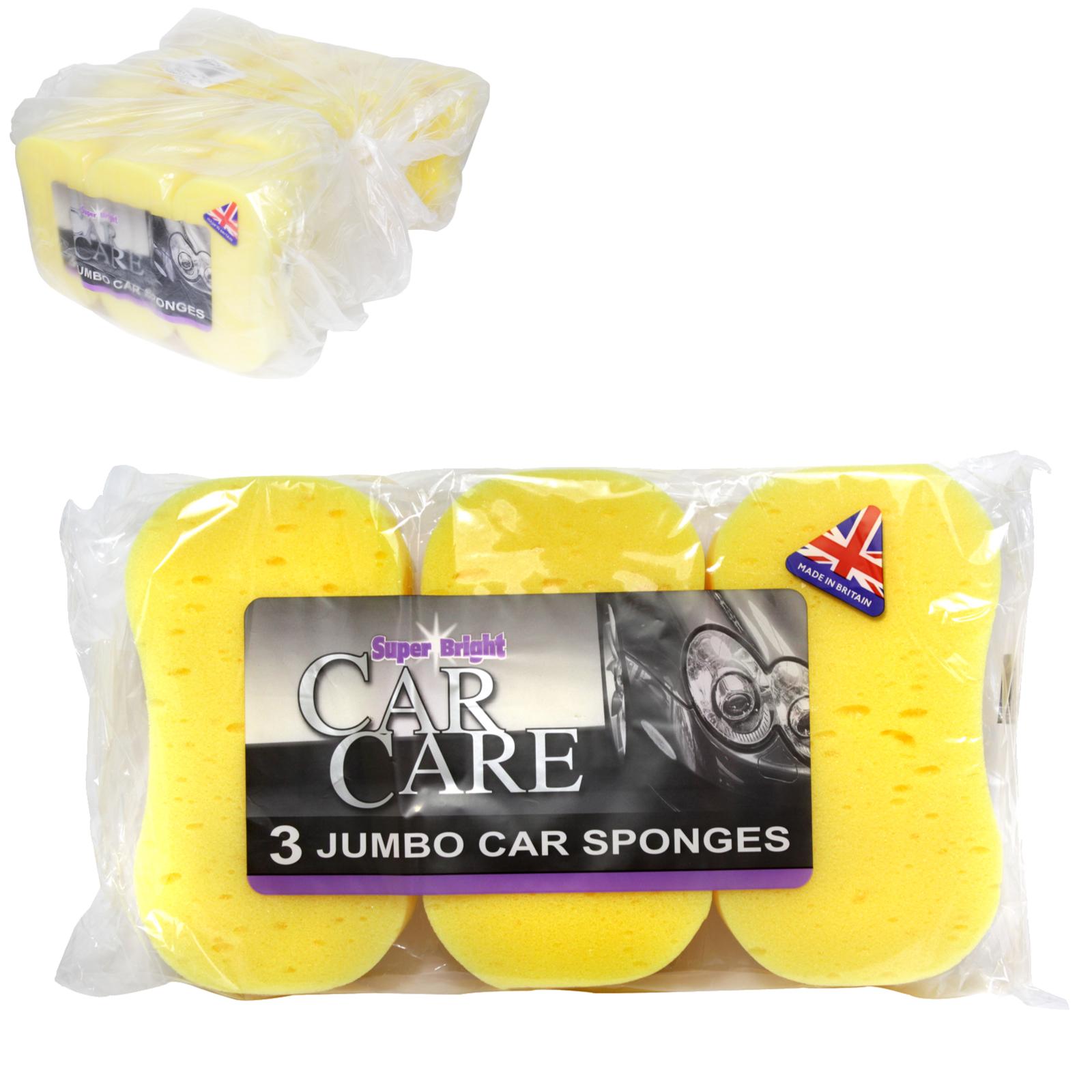 SUPERBRIGHT CAR CARE 3PK CAR SPONGES X10