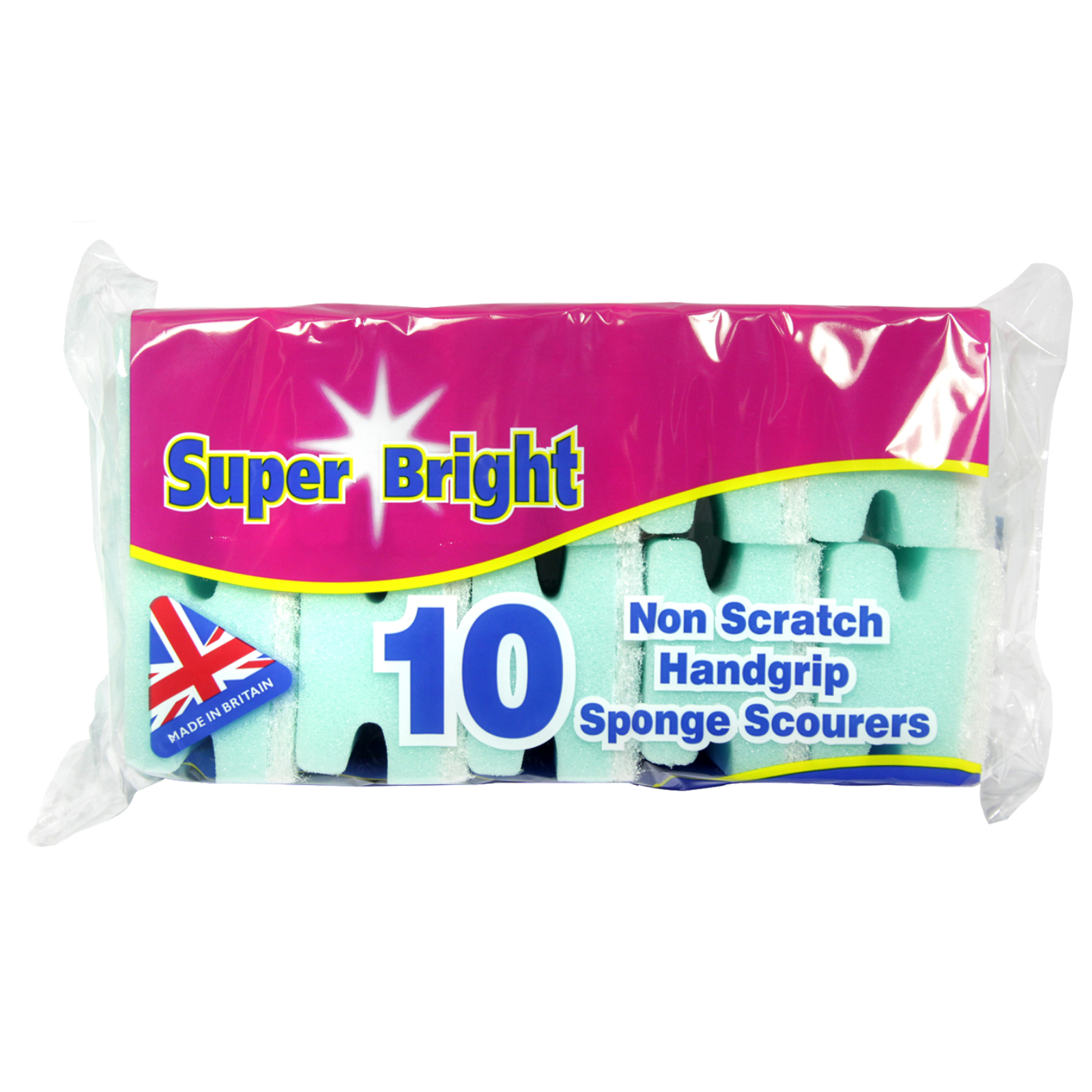SUPERBRIGHT 10 HAND GRIP SCOURER NON-SCRATCH