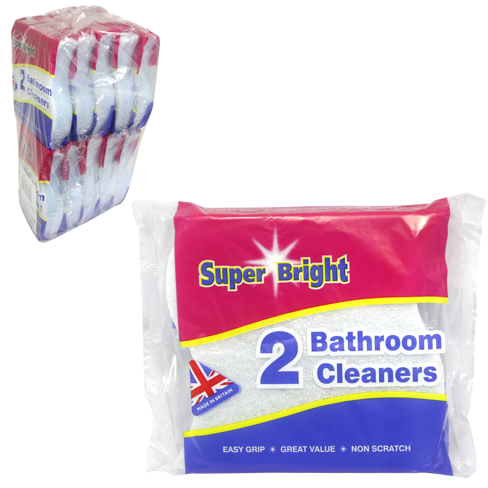 SUPERBRIGHT 2 BATHROOM CLEANERS NON-SCRATCH X10