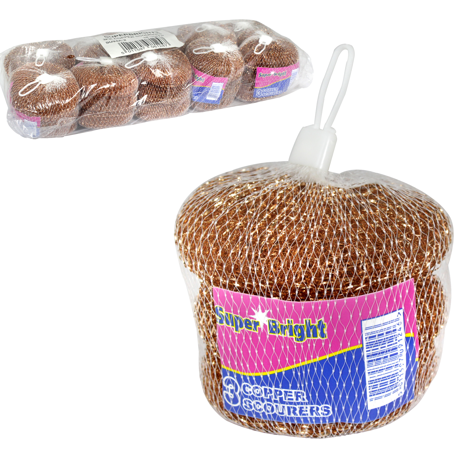 SUPERBRIGHT COPPER PLATED SCOURER 3PK X10