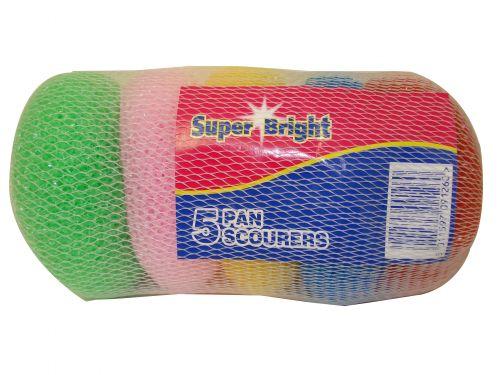 SUPERBRIGHT PAN SCOURER 5PK X10