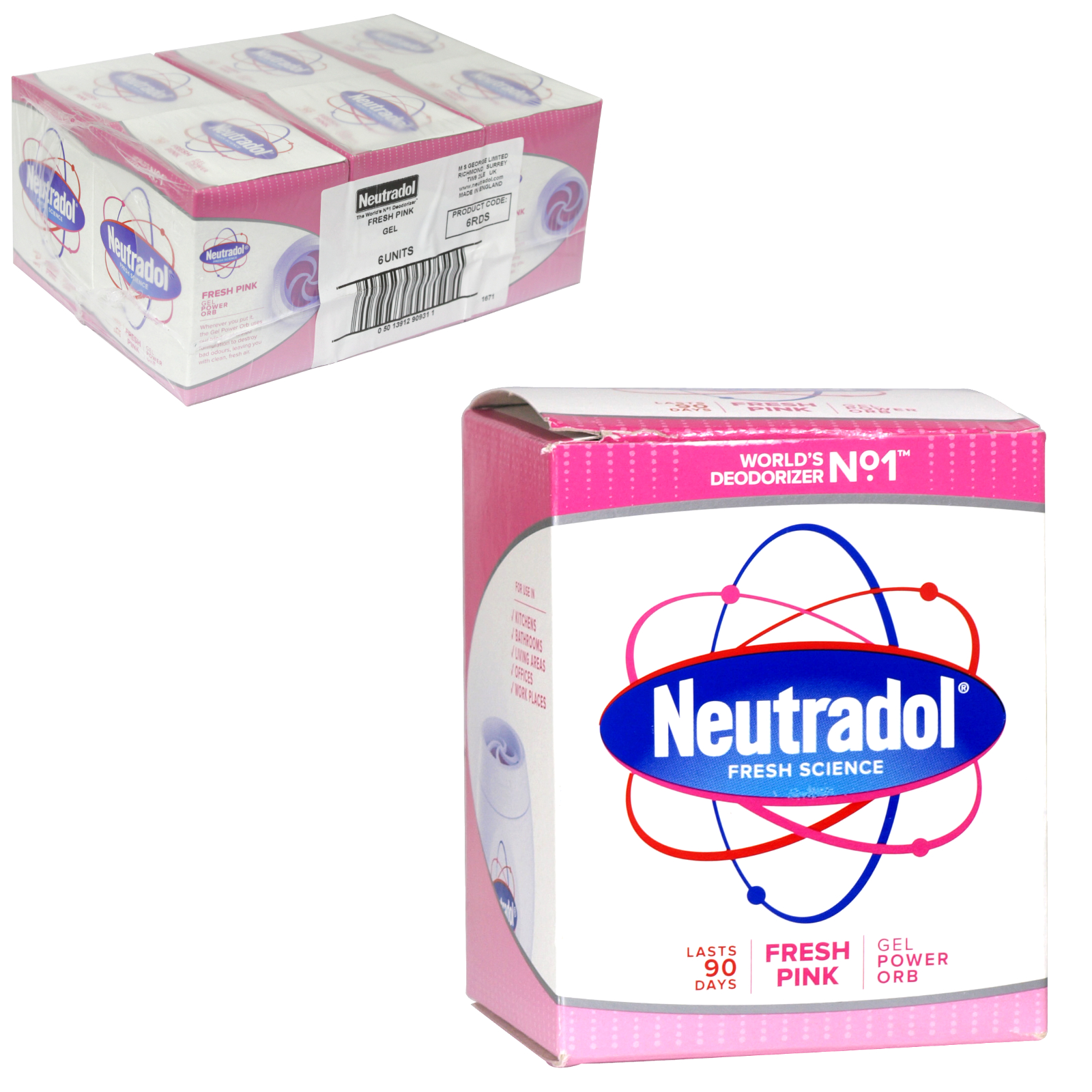 NEUTRADOL GEL AIR FRESH 135GM FRESH PINK X6
