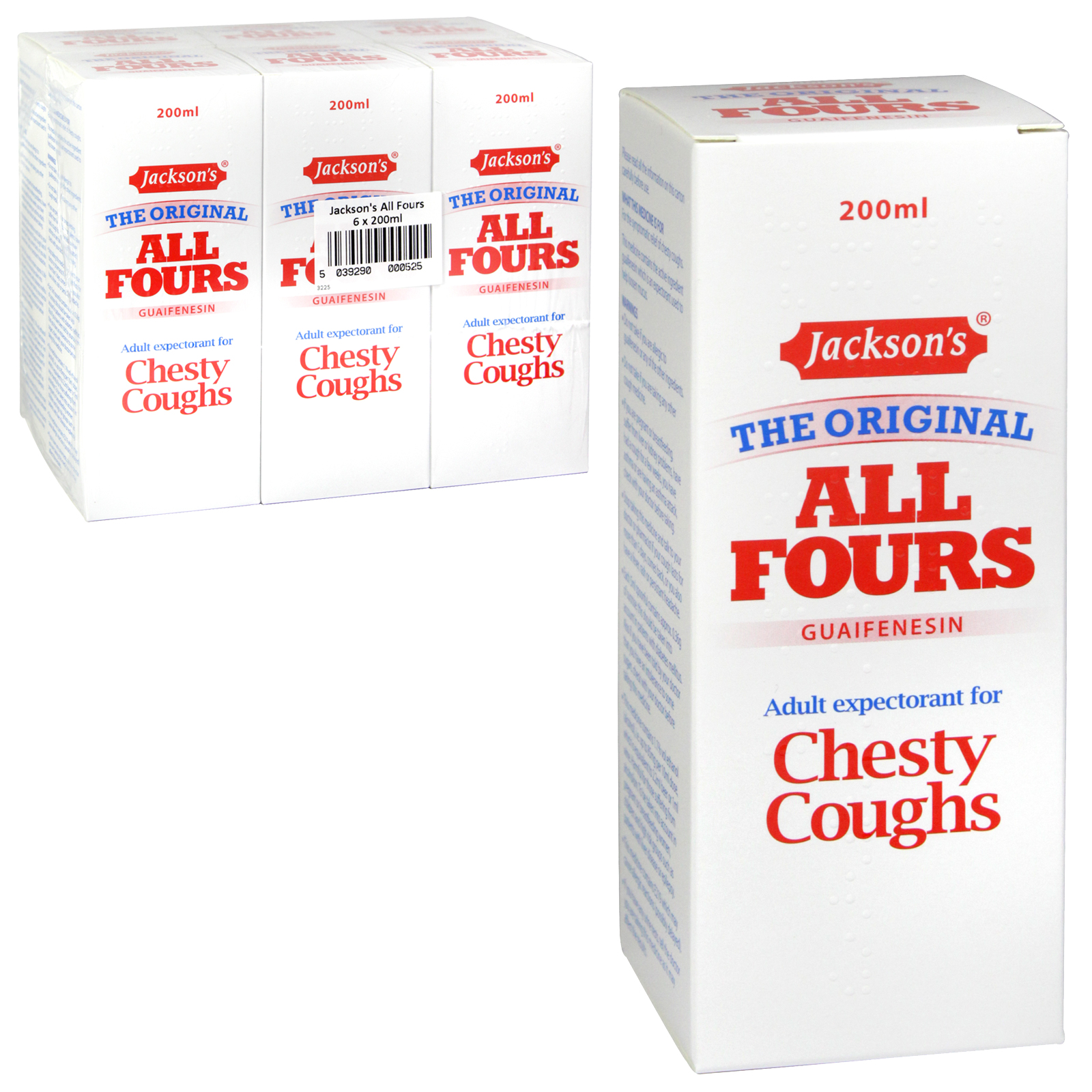JACKSONS ALL FOURS CHESTY COUGH 200M X6 (NON RETURNABLE)