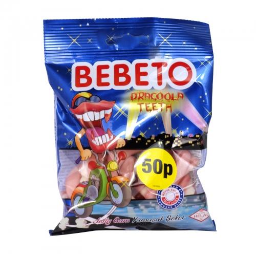 BEBETO 80G BAG DRACOOLA TEETH X20