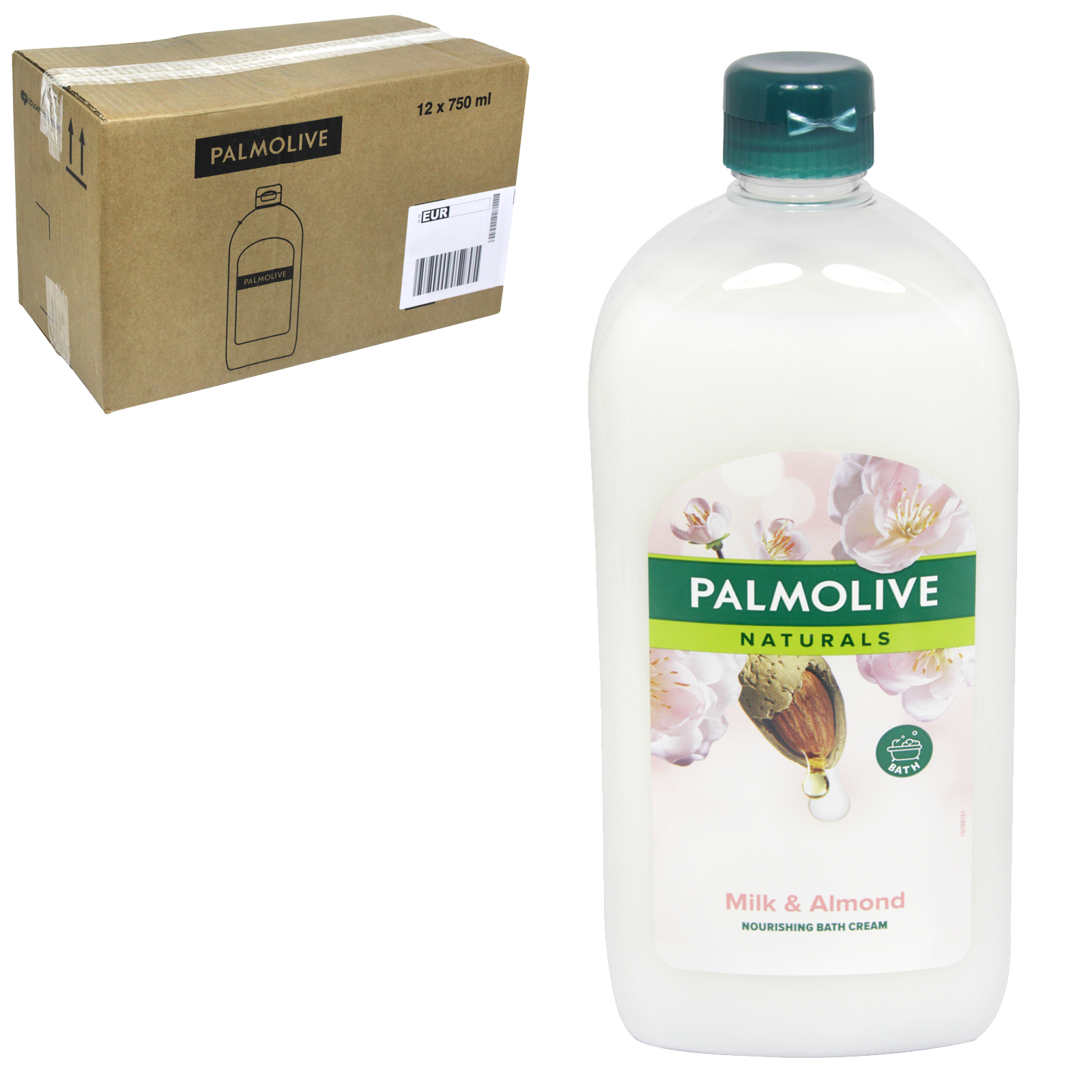 PALMOLIVE NATURALS NOURISHING BATH CREAM 750ML MILK+ALMOND X12