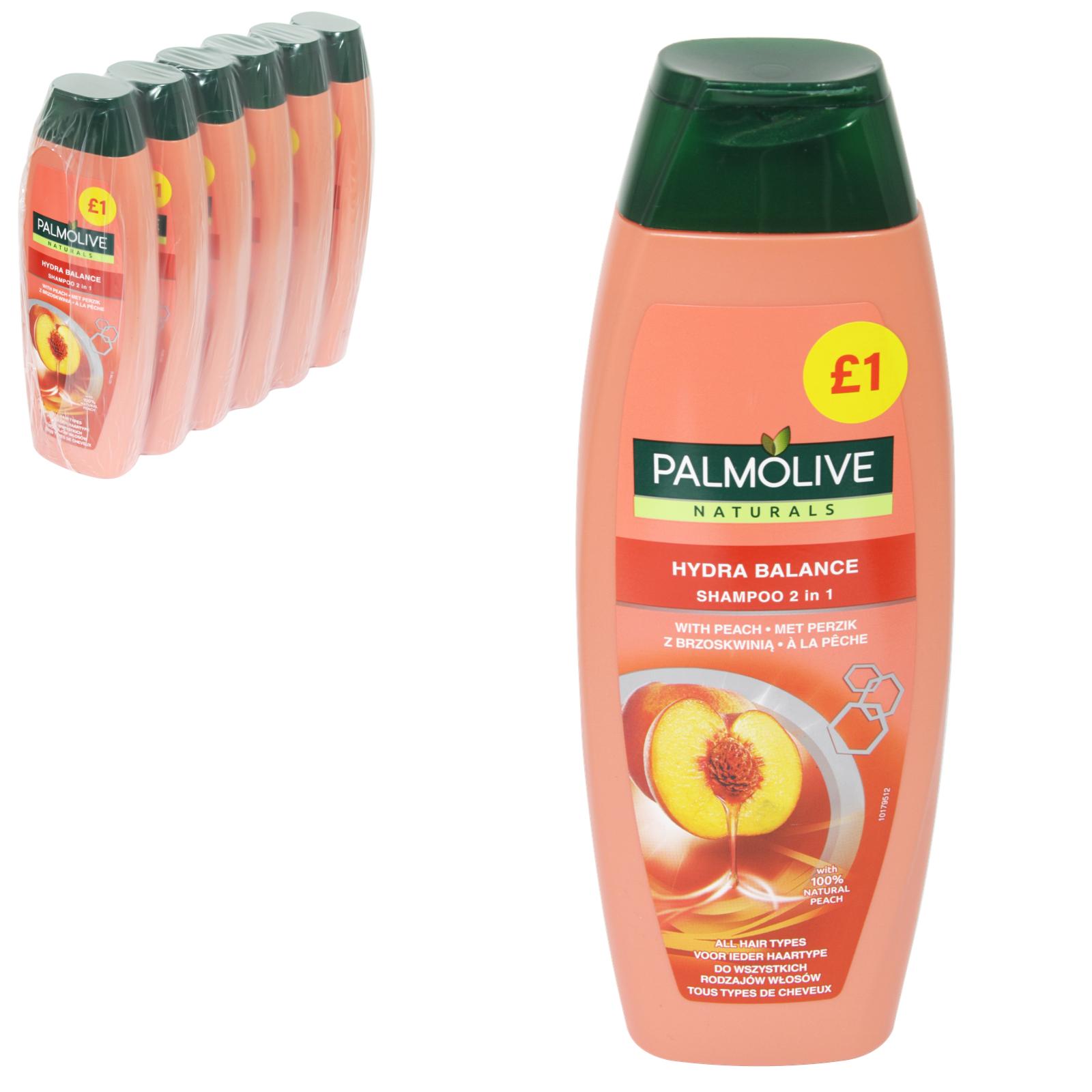PALMOLIVE SHAMPOO 350ML PM?1 2IN1 WITH HYDRA BALANCE WITH PEACH X6