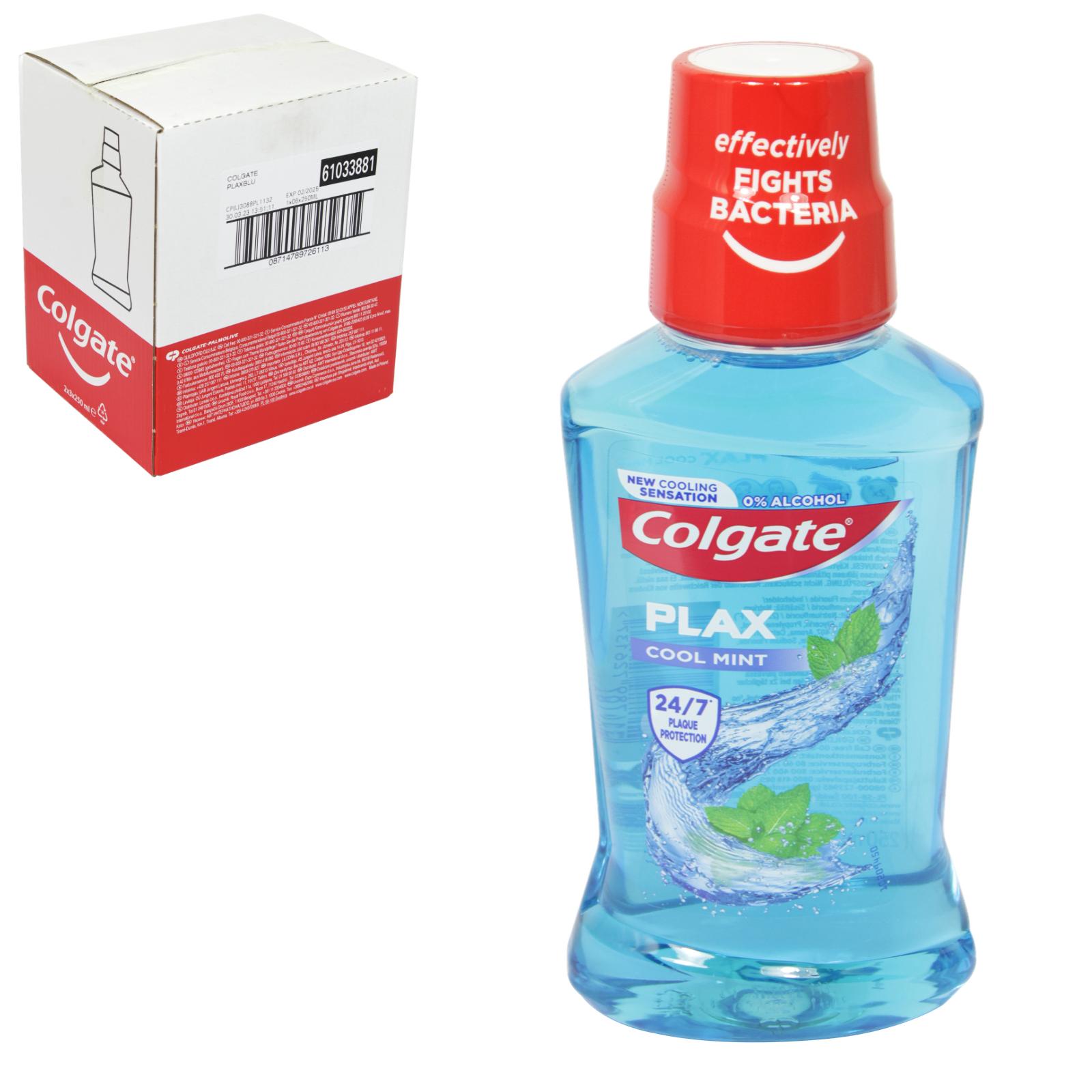 COLGATE PLAX MOUTHWASH 250ML COOL MINT BLUE X6