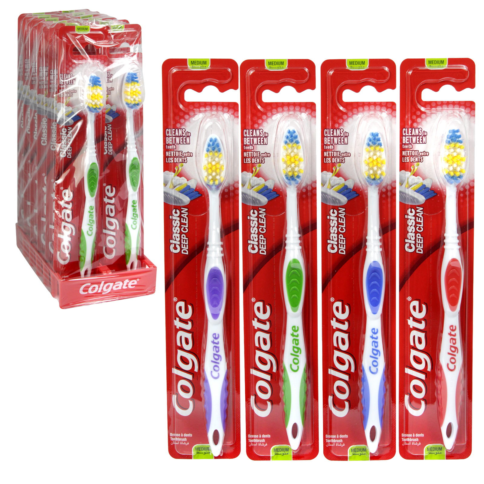 COLGATE TOOTHBRUSH CLASSIC DEEP CLEAN X12