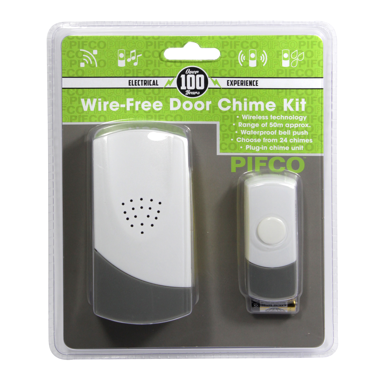 PIFCO WIRE FREE DOOR CHIME PLUG-IN