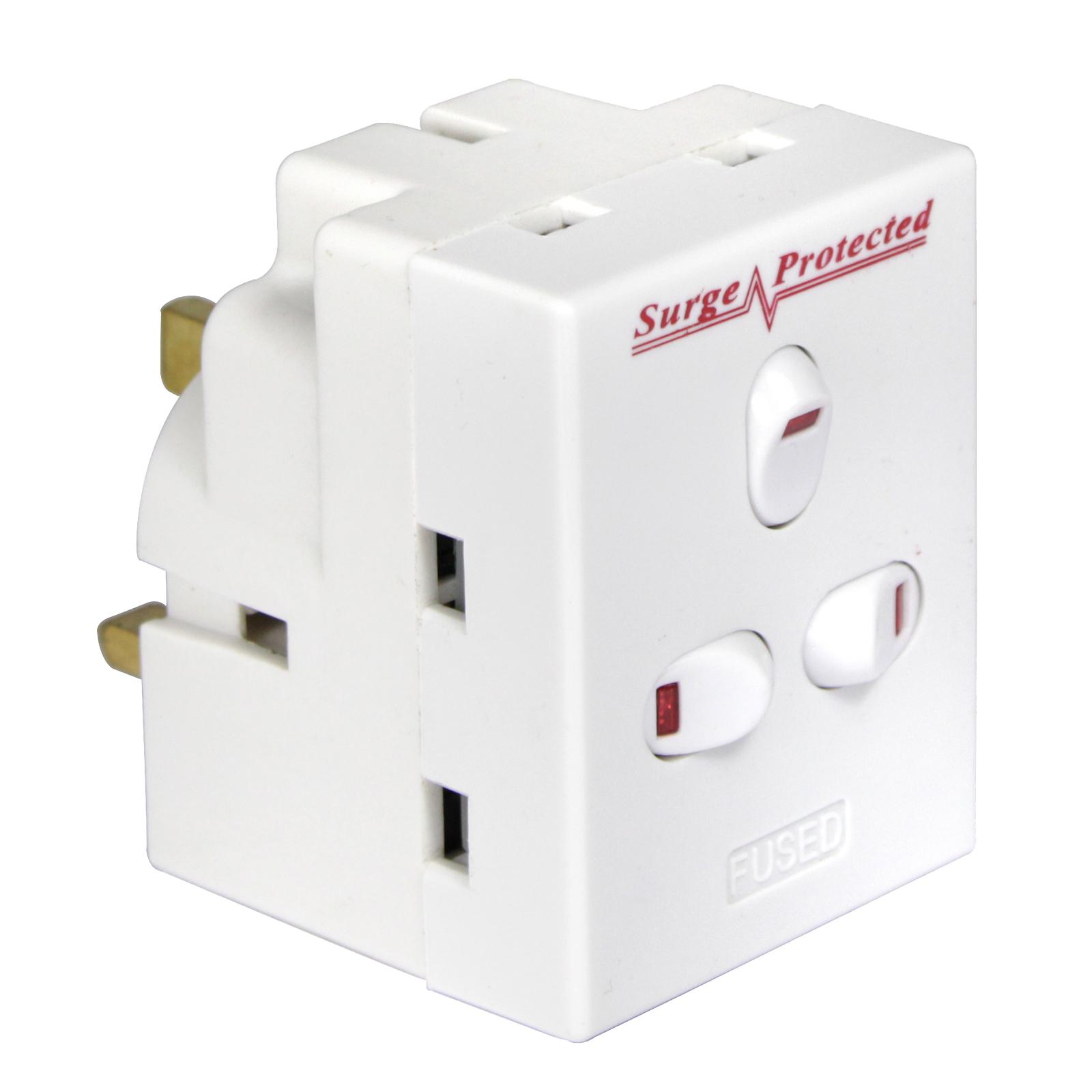 PIFCO SWITCHED 3WAY SURGE ADAPTOR