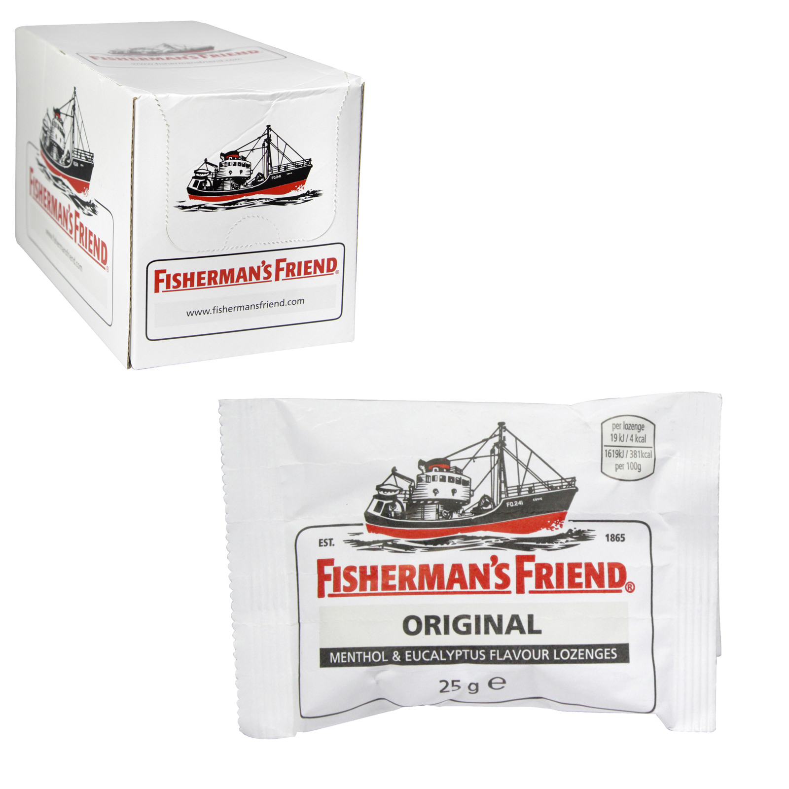 FISHERMANS FRIENDS 25G ORIGINAL XTRA X24