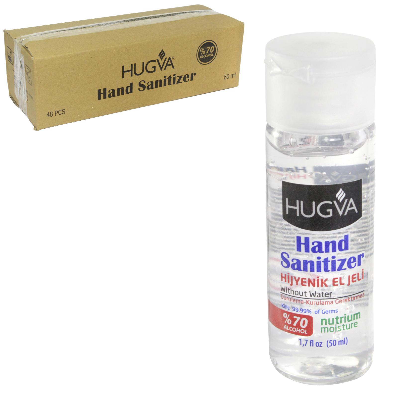 HUGVA HAND SANITIZER 50ML 70% ALCOHOL X48