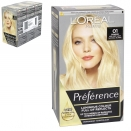 INFINIA PREFERENCE HAIR COLOUR 01 LIGHTEST NATURAL BLONDE X3