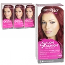 DERMA V10 SALON FASHION HAIR COLOUR 6.6 INTENSE RUBY X6