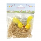 EASTER HANGING CHICKS ON NEST 2PK X24