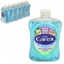 CAREX ANTI-BAC LIQUID SOAP 500ML ORIGINAL BLUE SCREW TOP X6
