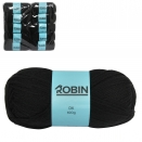 ROBIN 4032 DOUBLE KNIT WOOL WEIGHT 100GM LENGTH 300M BLACK X10