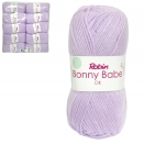 ROBIN BONNY BABE 4058 DOUBLE KNIT WOOL WEIGHT 100GM LENGTH 300M LILAC WHITE X10