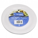 KINGFISHER 30X7 PAPER PLATES WHITE 10 FREE PLATES