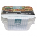 KINGFISHER 4PK MICROWAVE CONTAINER+LID