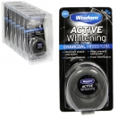 WISDOM ACTIVE WHITENING CHARCOAL INFUSED FLOSS 50M X6